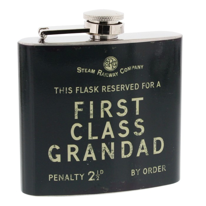 Steam Railway Co Hipflask First Class Grandad Sparkle Gift