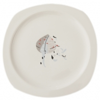 Sarah Heaton Accent Leaf Side Plate Pack 6 Sparkle Gift