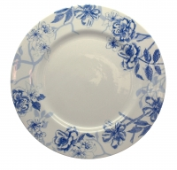 Blue Bird Toile Plate 28cm Edward Challinor Pack 6 Sparkle Gift