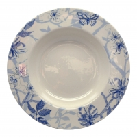 Blue Bird Toile Soup Plate 25cm Edward Challinor 6 Sparkle Gift