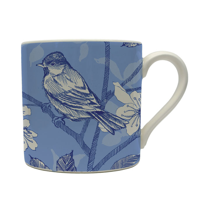 Blue Bird Toile Mug Edward Challinor Pack 6 Sparkle Gift