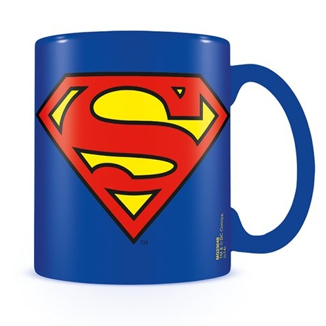 Superman Boxed Mug Superman Logo Sparkle Gift
