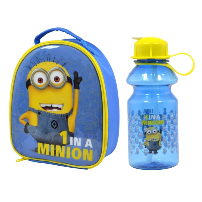 Minions Lunch Bag & Water Bottle Set 1 In A Minion Sparkle Gift