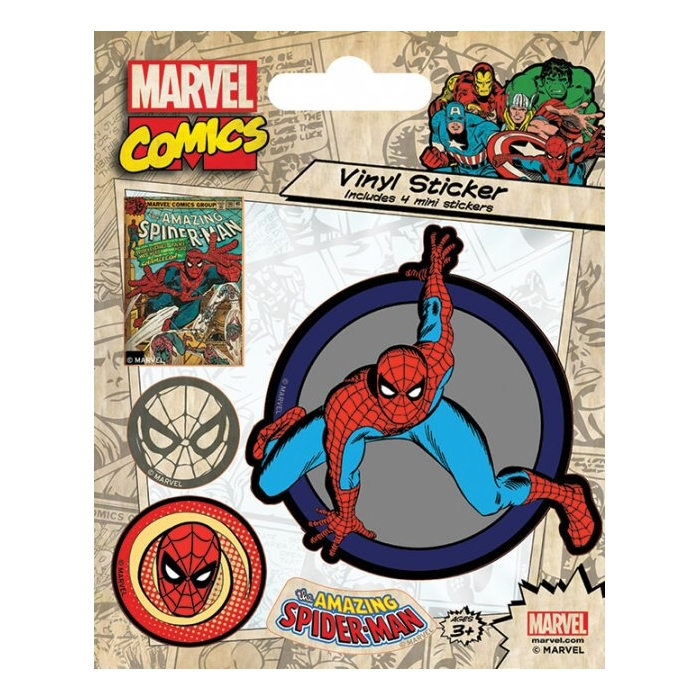 Marvel Stickers Retro Spider-Man Sparkle Gift