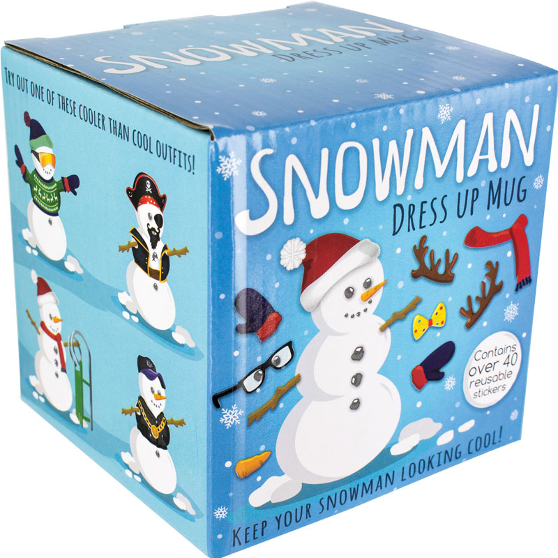 Snowman Dress Up Boxed Mug Sparkle Gift