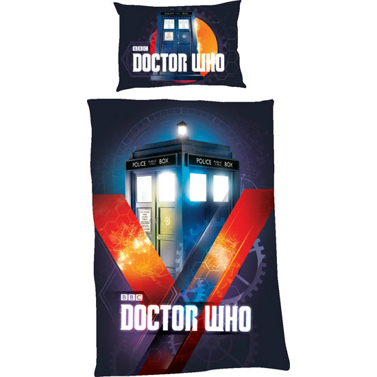 Doctor Who Duvet Set Tardis In Time Single Sparkle Gift