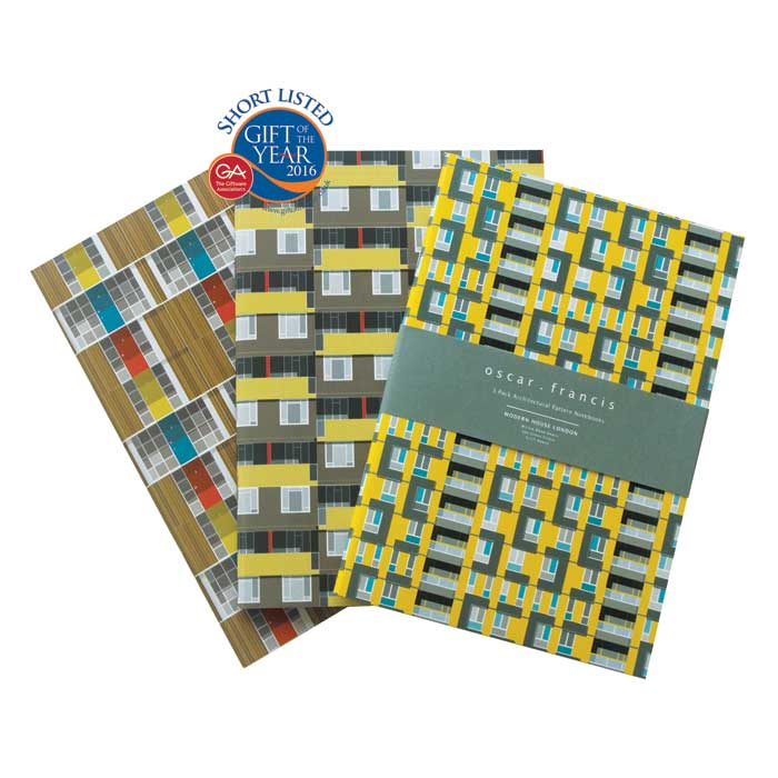 Oscar Francis Notebooks 3 Pack Willow Spa & Sivill Sparkle Gift
