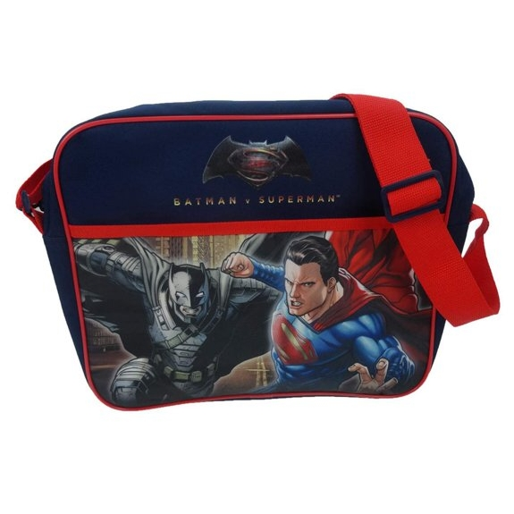 Batman V Superman Courier Bag Junior Justice Sparkle Gift