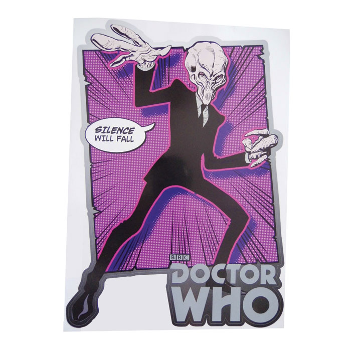 Doctor Who 2 Comic Strip Wall Sticker Silence 6626 Sparkle Gift