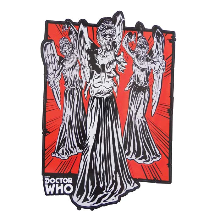 Doctor Who 2 Comic Strip Wall Sticker Angel 6601 Sparkle Gift