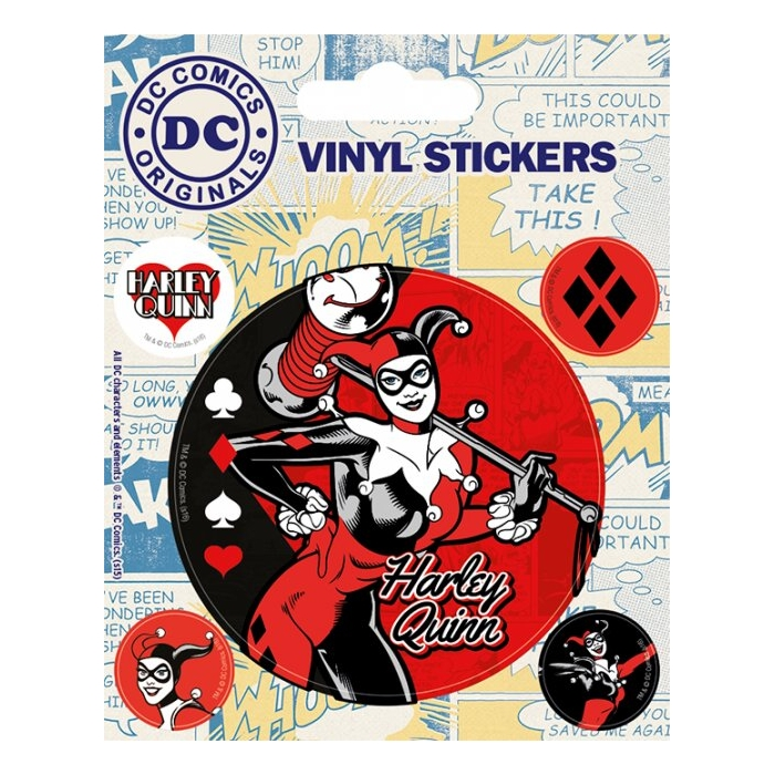 Dc Comics Stickers Harley Quinn Sparkle Gift