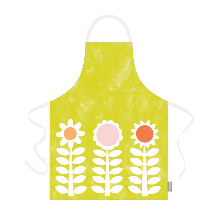 Ken Eardley Apron New Flower Design Lime Sparkle Gift