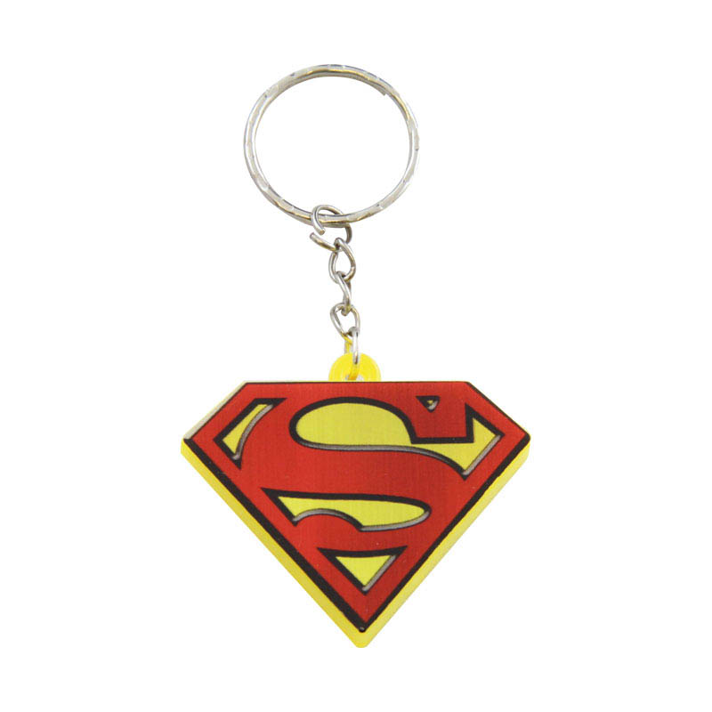 Superman Keyring Led Torch Sparkle Gift