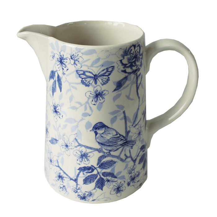 Blue Bird Toile Large Jug Edward Challinor Sparkle Gift