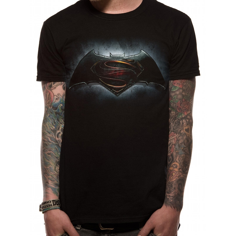 Batman V Superman T Shirt Logo Mens Large Sparkle Gift
