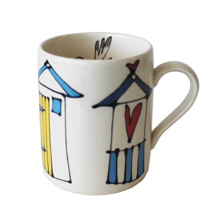 Gallery Thea Mug Beach Huts Pack 6 Sparkle Gift