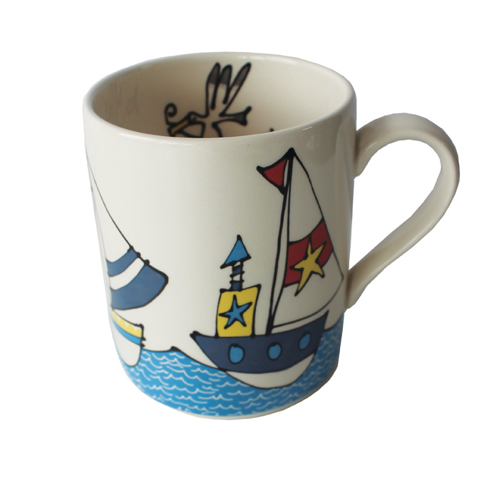 Gallery Thea Mug Boats & Sea Pack 6 Sparkle Gift