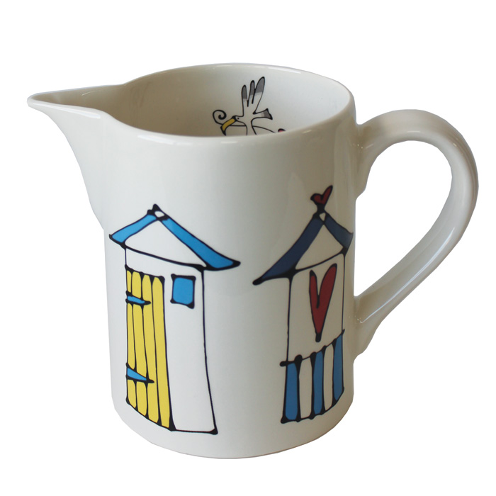 Gallery Thea Large Jug Beach Huts Pack 1 Sparkle Gift