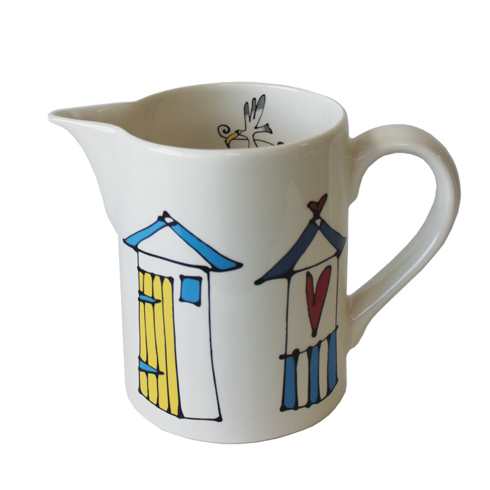 Gallery Thea Small Jug Beach Huts Pack 6 Sparkle Gift