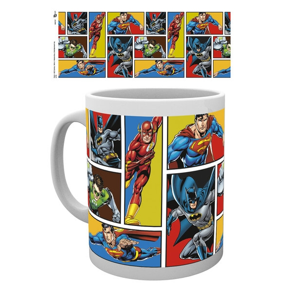 Dc Comics Boxed Mug Justice League Grid Sparkle Gift