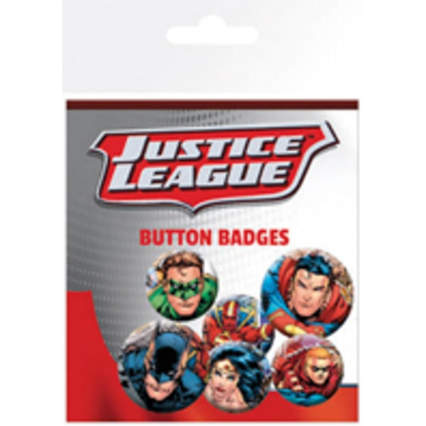 Dc Comics Badge Pack Justice League Group (6)              Sparkle Gift