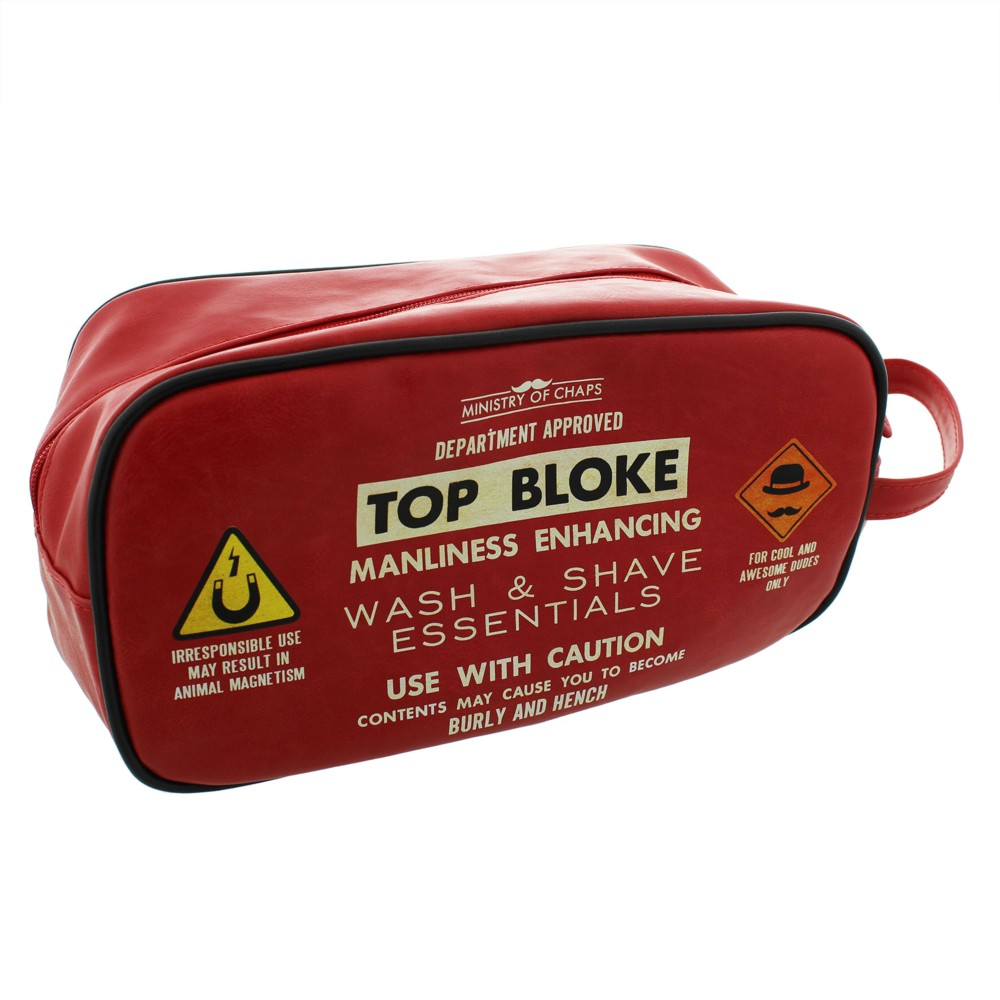 Ministry of Chaps Mens Wash Bag Top Bloke Sparkle Gift