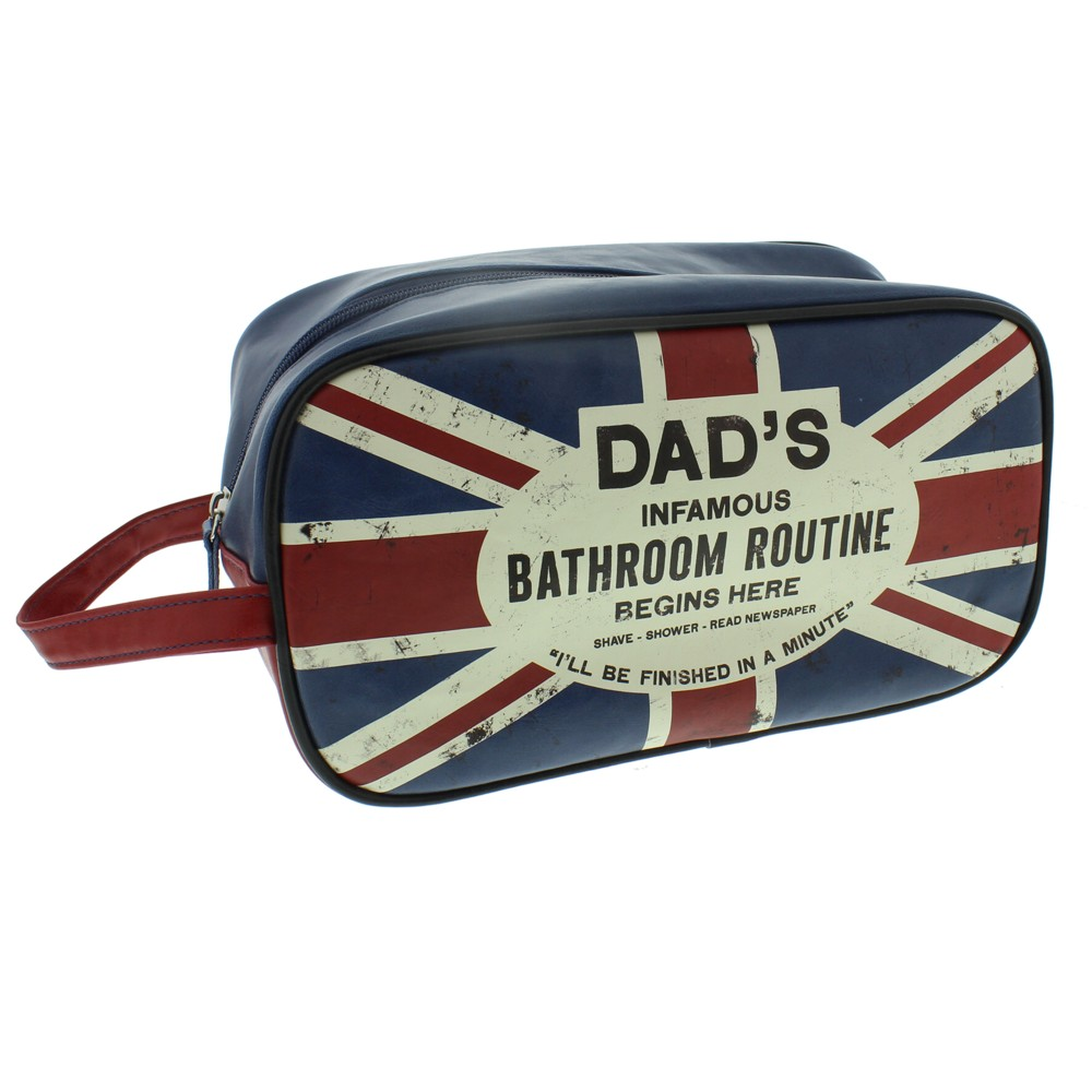 Union Jack Mens Wash Bag Dads Bathroom Routine Sparkle Gift