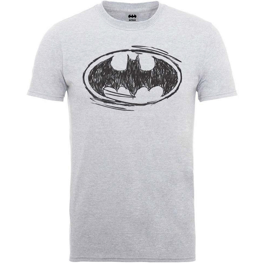 Batman T Shirt Sketch Logo Mens Large Sparkle Gift