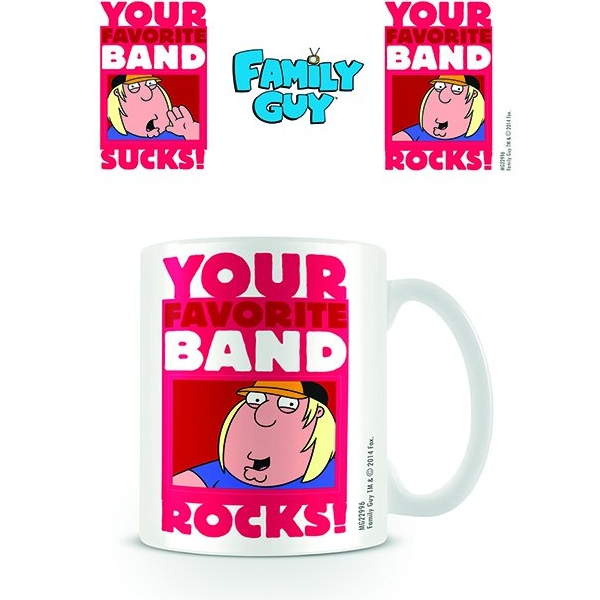 Family Guy Boxed Mug Your Favorite Band Sparkle Gift