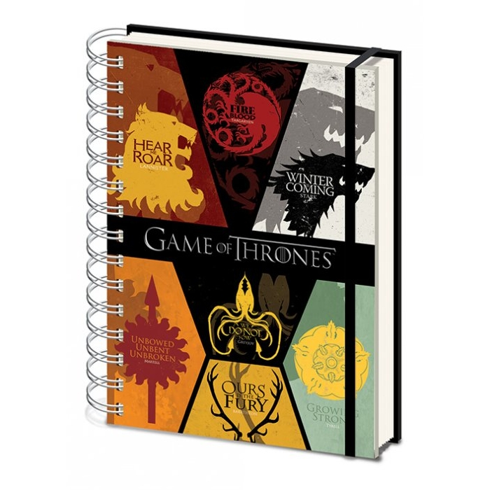 Game of Thrones A5 Notebook Sigils Sparkle Gift