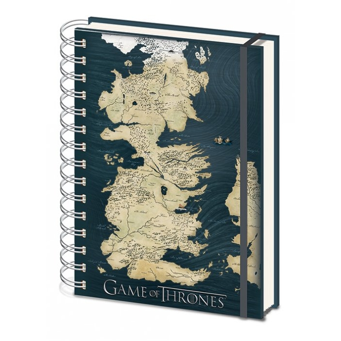 Game of Thrones A5 Notebook Map Sparkle Gift
