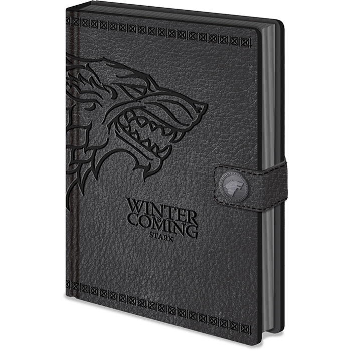 Game of Thrones Premium A5 Notebook Stark Sparkle Gift
