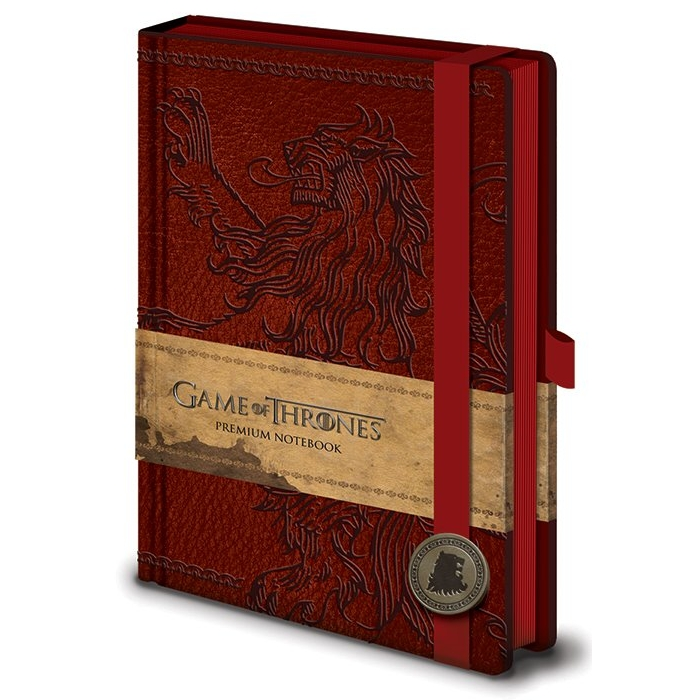 Game of Thrones Premium A5 Notebook Lannister Sparkle Gift