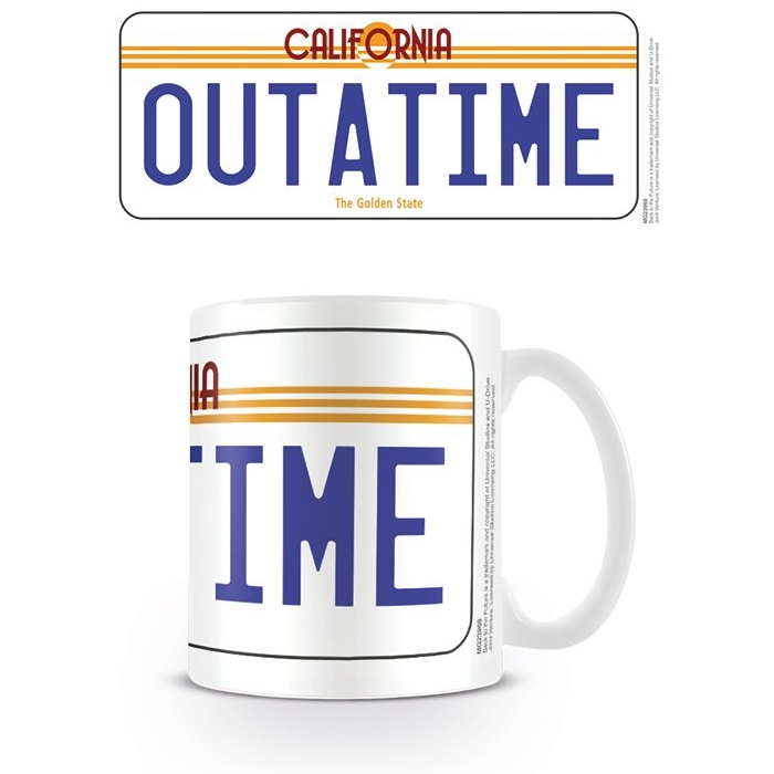 Back To The Future Boxed Mug Licence Plate Sparkle Gift