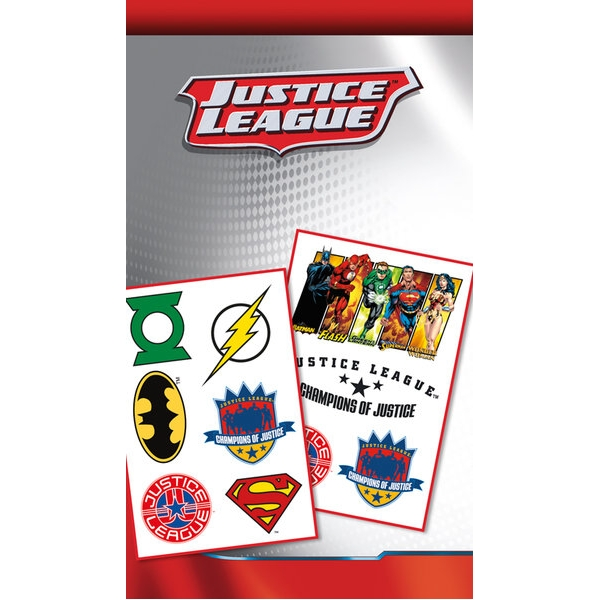 Dc Comics Tattoo Pack Justice League Sparkle Gift