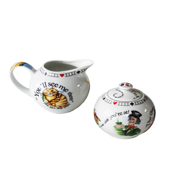 Alice Sugar Bowl & Creamer Set Sparkle Gift