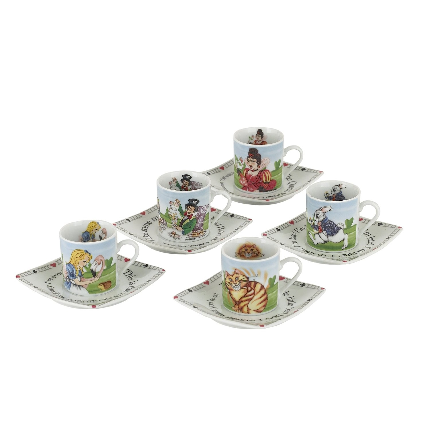 Alice Tea Party Set Pack of 5 Sparkle Gift