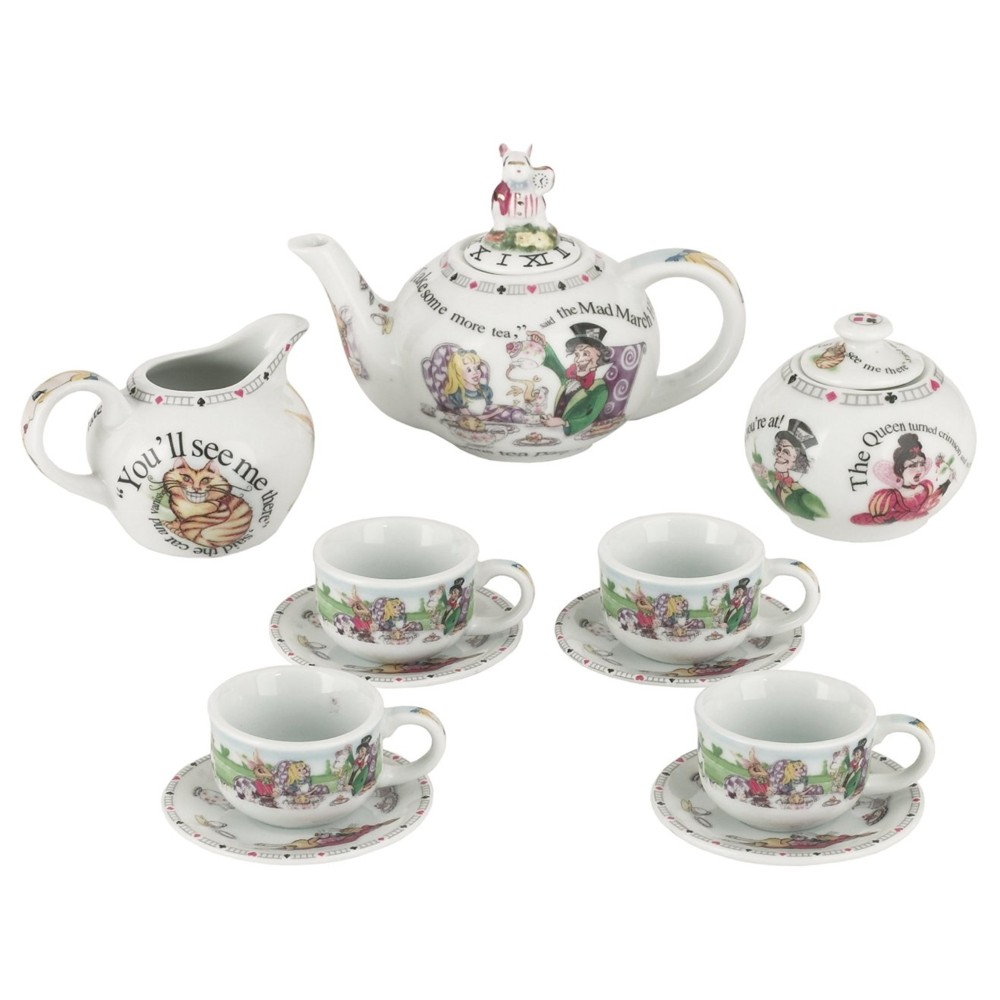 Alice Miniature Tea Set Pack of 7 Sparkle Gift
