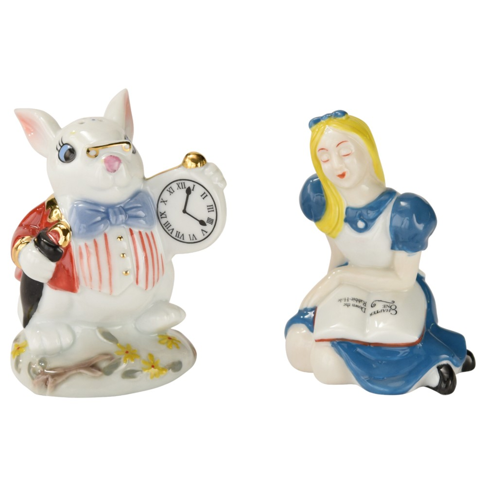 Alice Salt & Pepper Set Alice & White Rabbit Sparkle Gift