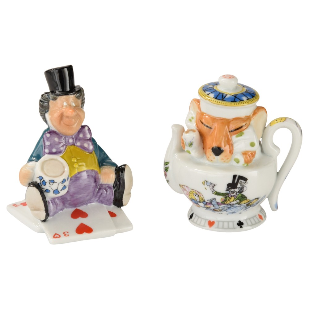 Alice Salt & Pepper Set Mad Hatter & Dormouse Sparkle Gift