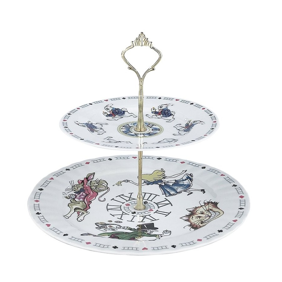 Alice 2 Tier Cake Stand Sparkle Gift