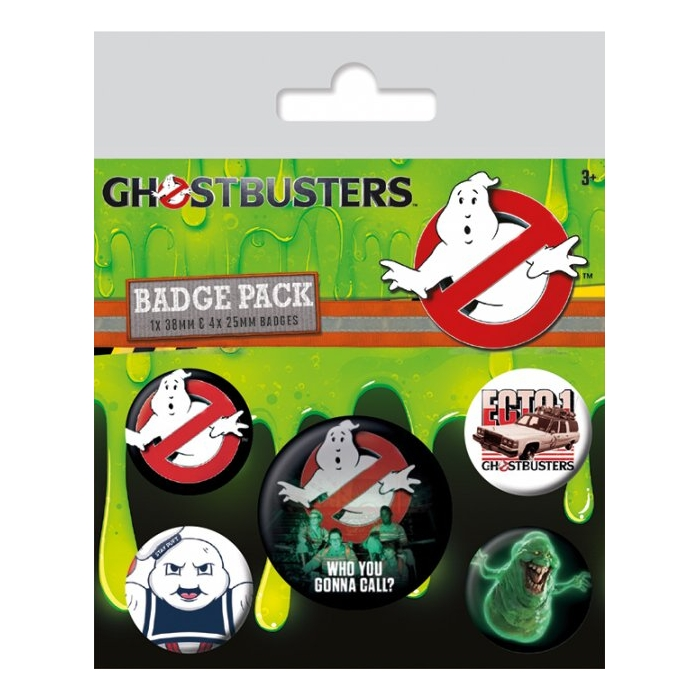 Ghostbusters Badge Pack Who You Gonna Call' Sparkle Gift