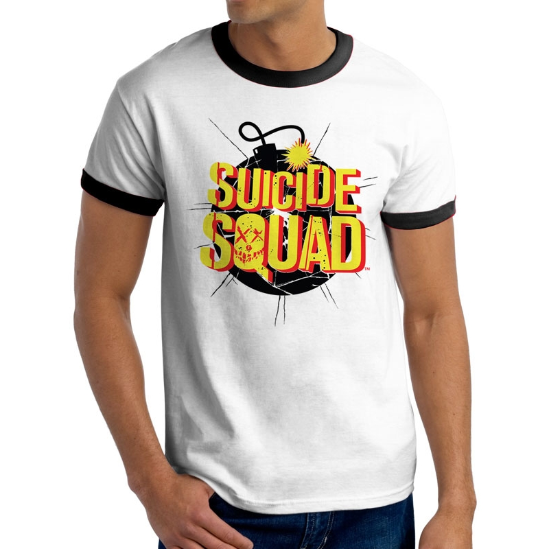 Suicide Squad T Shirt Bomb Mens Small Sparkle Gift