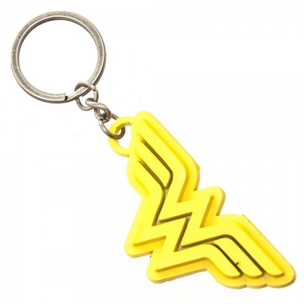 Wonder Woman Keyring Metal Logo Sparkle Gift