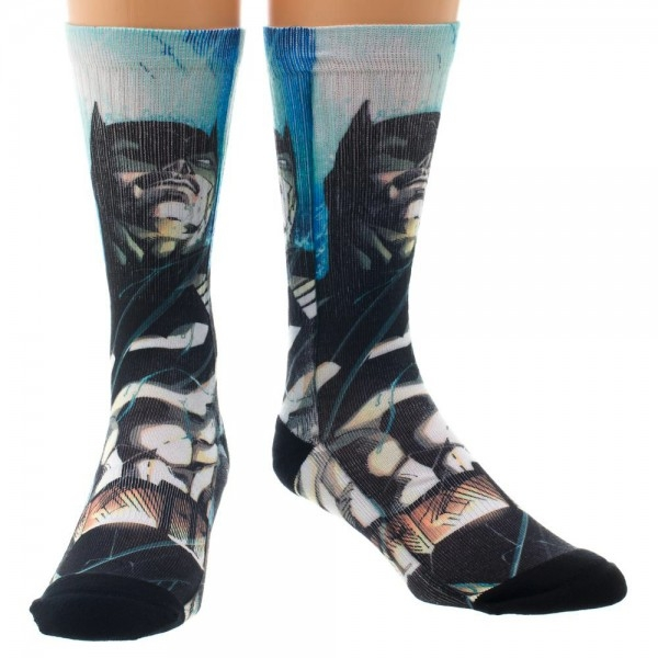 Batman Socks Sublimated Sparkle Gift