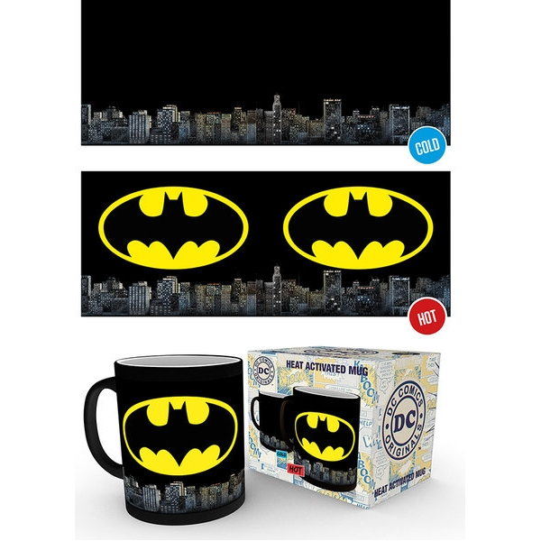 Batman Heat Change Mug Logo Sparkle Gift