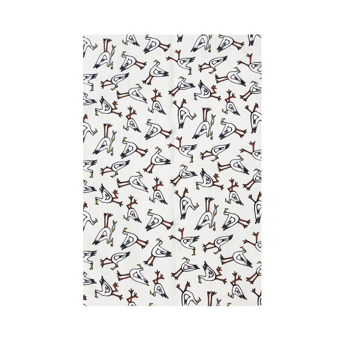 Gallery Thea Tea Towel Seagull Ivory Sparkle Gift