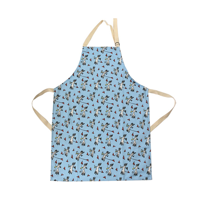 Gallery Thea Apron Gull & Heart Blue Sparkle Gift