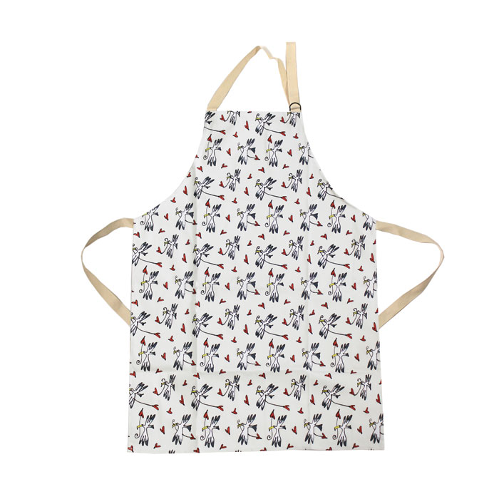 Gallery Thea Apron Gull & Heart Ivory Sparkle Gift