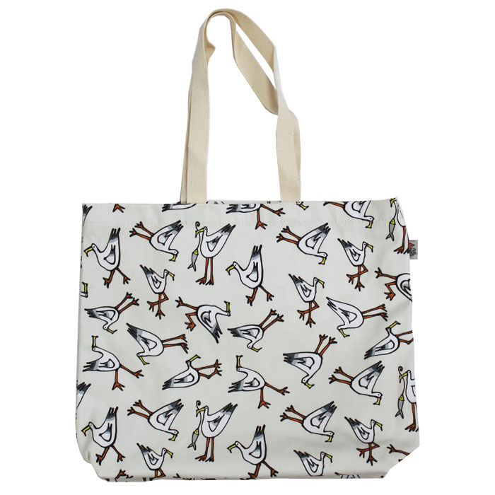 Gallery Thea Luxury Lined Shopper Seagull Ivory Sparkle Gift